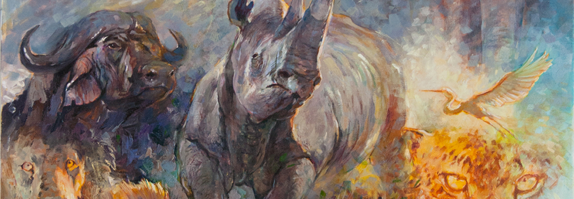 The Black Rhino, Big 5, Afrika Series