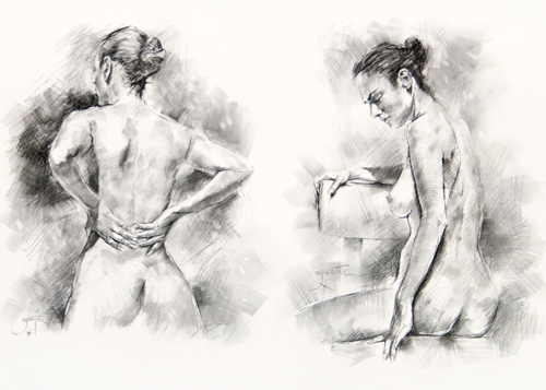 Study of Two Nudes