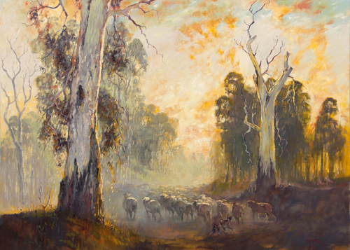 Moving Stock Among Redgums (Sold)