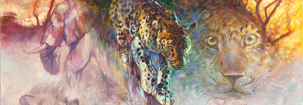 Afrika Big 5 - Leopard Canvas